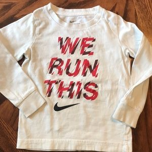 Long sleeve boys Nike shirt